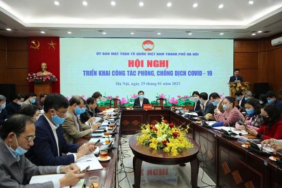 Mặt trận Tổ quốc Việt Nam thành phố Hà Nội triển khai công tác phòng, chống dịch Covid-19