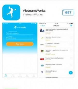 VietnamWorks ra mắt ứng dụng tìm việc trên điện thoại di động