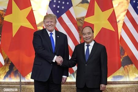 Thủ tướng Chính phủ Nguyễn Xuân Phúc hội kiến Tổng thống Hoa Kỳ Donald Trump