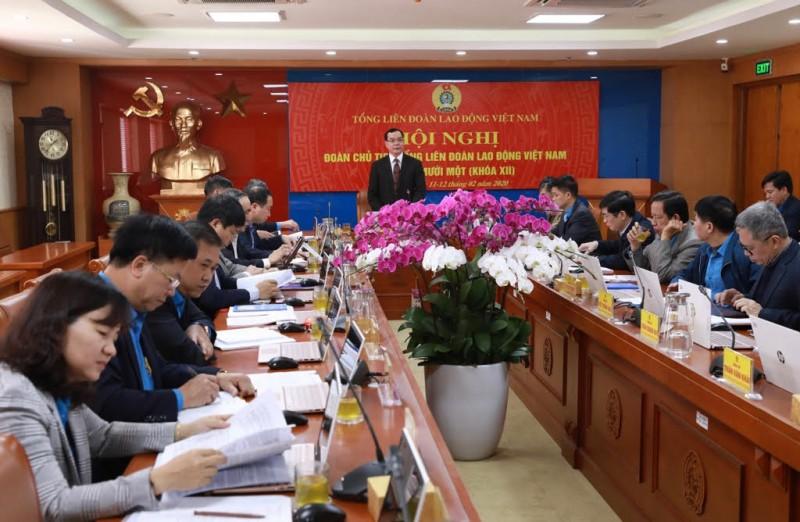 Hội nghị lần thứ 11 (khoá XII) Đoàn Chủ tịch Tổng Liên đoàn Lao động Việt Nam