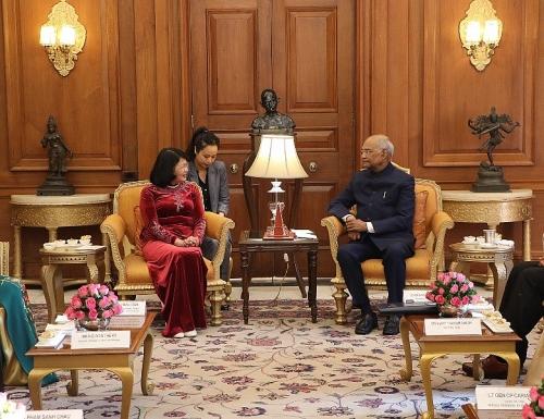 Phó Chủ tịch nước Đặng Thị Ngọc Thịnh hội kiến với Tổng thống Cộng hòa Ấn Độ