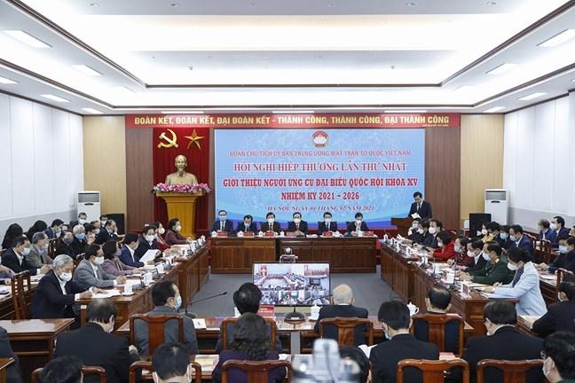 Hội nghị Hiệp thương lần thứ nhất giới thiệu người ứng cử đại biểu Quốc hội khóa XV