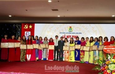 LĐLĐ quận Long Biên biểu dương 132 nữ lao động tiêu biểu