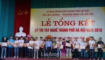 176 thí sinh đoạt giải Kỳ thi tay nghề Thành phố Hà Nội năm 2018