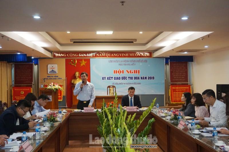 Cụm Thi đua số 7 LĐLĐ thành phố ký kết giao ước thi đua năm 2019
