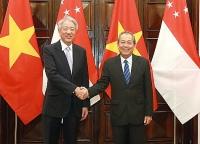 Phó Thủ tướng Thường trực Trương Hòa Bình hội đàm với Phó Thủ tướng Singapore
