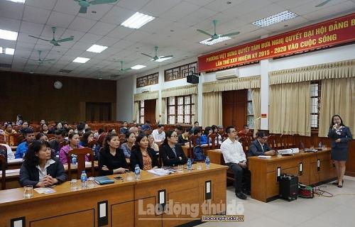 Quận Long Biên: Tuyên truyền chính sách BHXH tự nguyện tới người dân