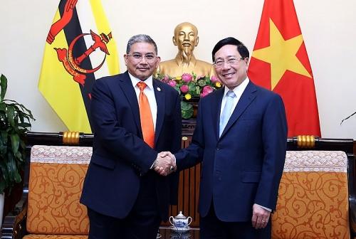 Phó Thủ tướng Phạm Bình Minh tiếp Bộ trưởng thứ hai Ngoại giao Brunei