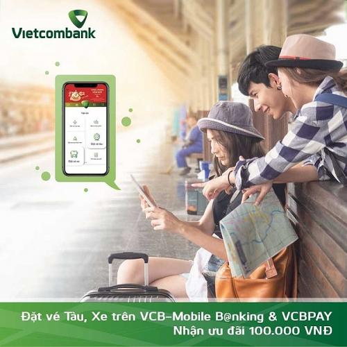 Vietcombank mở rộng triển khai tính năng đặt vé tàu, xe trên VCBPAY