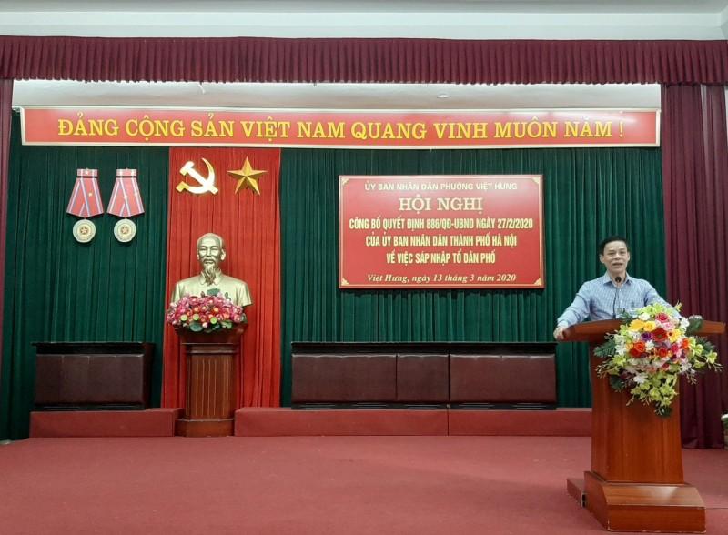 Quận Long Biên: Triển khai sáp nhập 156 tổ dân phố để thành lập 76 tổ dân phố mới