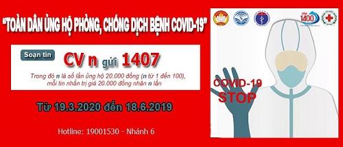Chung tay nhắn tin CV gửi 1407 để ủng hộ công tác phòng, chống dịch bệnh Covid-19