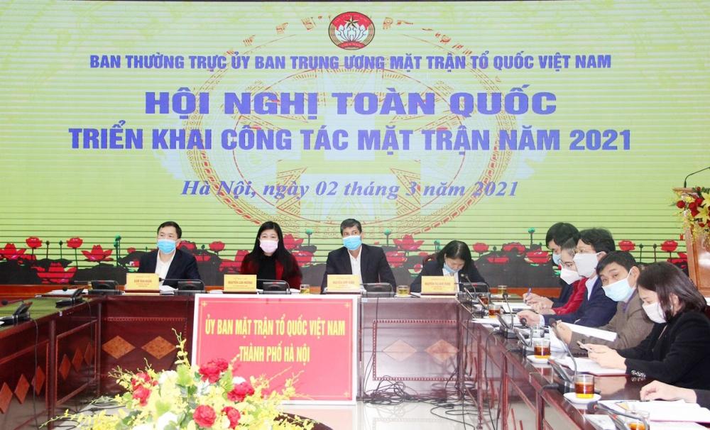 Hội nghị triển khai công tác Mặt trận năm 2021