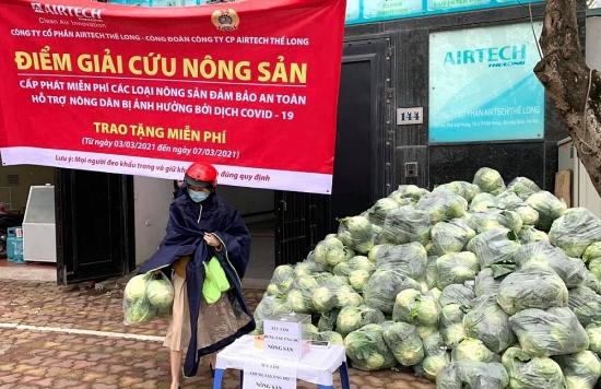 Đoàn viên công đoàn Long Biên tích cực hỗ trợ nông dân vùng dịch tiêu thụ nông sản