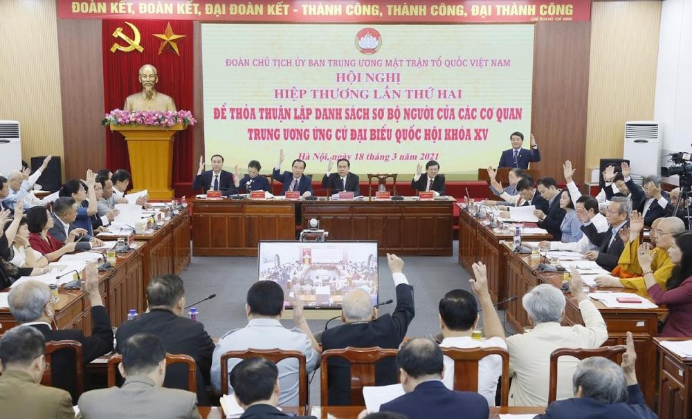 Hội nghị Hiệp thương lần thứ hai lập danh sách sơ bộ người của các cơ quan Trung ương ứng cử đại biểu Quốc hội khóa XV