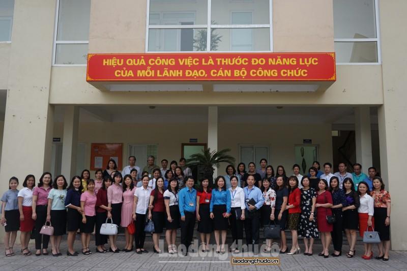 Công đoàn phường Thượng Thanh ra sức thi đua chào mừng Đại hội Công đoàn