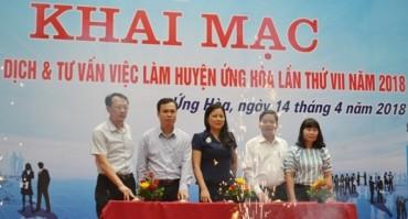 Gần 1.000 việc làm tại Phiên giao dịch việc làm huyện Ứng Hòa