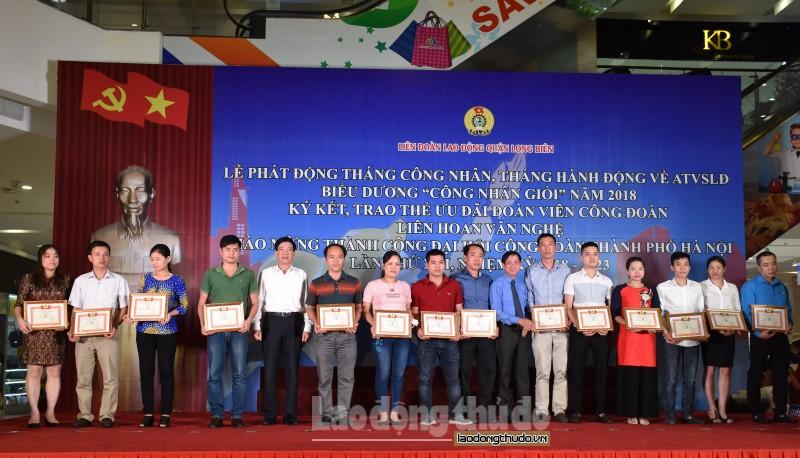 LĐLĐ quận Long Biên: Trao hơn 1.800 thẻ ưu đãi cho đoàn viên