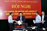 Bộ Ngoại giao: Lấy phiếu tín nhiệm giữa nhiệm kỳ đối với các Thứ trưởng