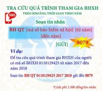 Chủ động nắm bắt quá trình tham gia BHXH, BHYT qua đầu số 8079