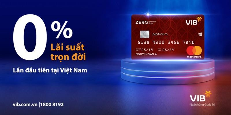 Lần đầu tiên tại Việt Nam, ra mắt thẻ tín dụng miễn lãi trọn đời