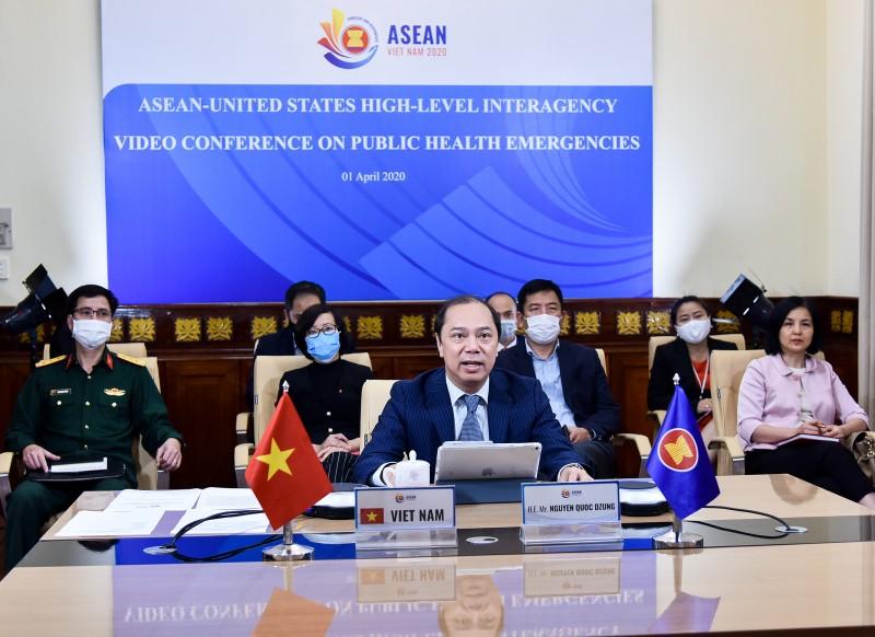 Quan chức cấp cao ASEAN - Mỹ họp trực tuyến về tình huống y tế công cộng khẩn cấp