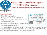 Cấp thẻ BHYT qua mạng xã hội Zalo trong thời gian cách ly xã hội