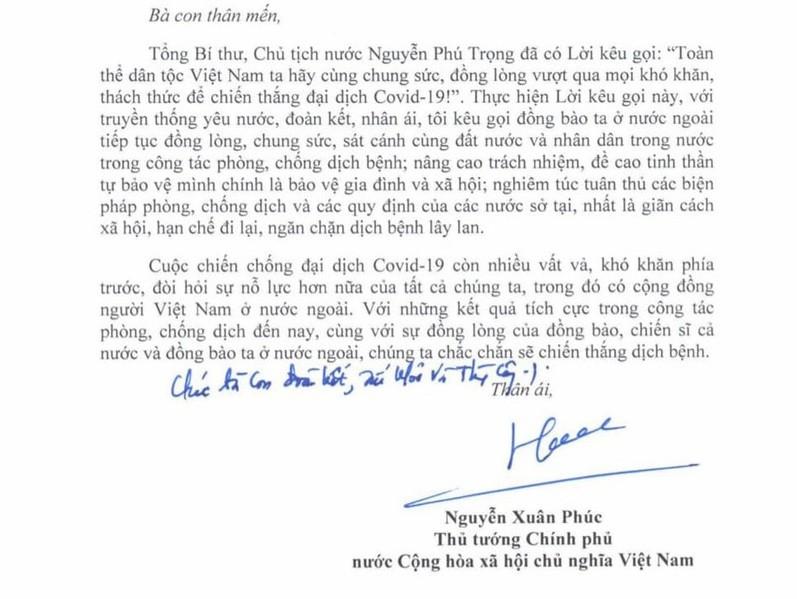 thu tuong nguyen xuan phuc gui thu toi cong dong nguoi viet nam o nuoc ngoai