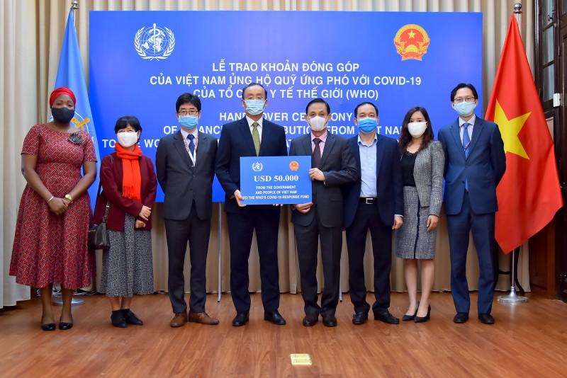 Việt Nam ủng hộ 50.000 USD vào Quỹ ứng phó với Covid-19 của Tổ chức Y tế thế giới