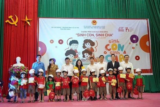 """Chương trình """"Sinh con, sinh cha"""" tiếp cận hơn 300 phụ huynh và trẻ mầm non tỉnh Bắc Ninh"""