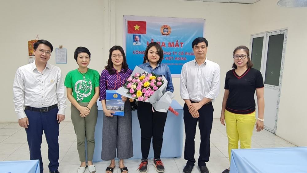 Liên đoàn Lao động quận Long Biên: Ra mắt Công đoàn Công ty cổ phần Sáng tạo Việt AKIRA