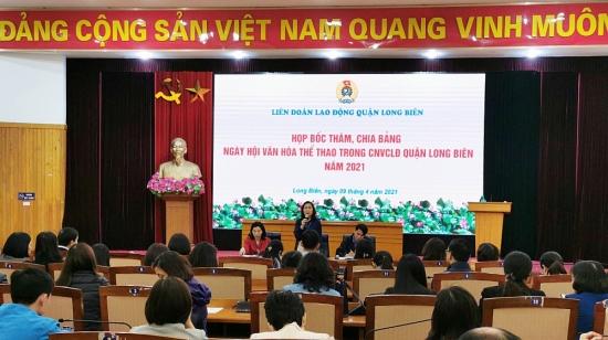 """92 công đoàn cơ sở tham dự Ngày hội """"Văn hóa - Thể thao"""" quận Long Biên năm 2021"""