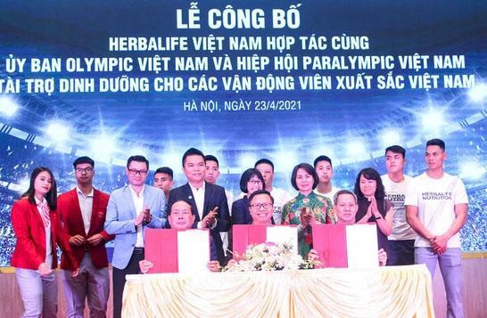 Tài trợ sản phẩm dinh dưỡng cho các vận động viên Việt Nam xuất sắc