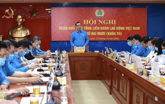 Khai mạc Hội nghị Đoàn Chủ tịch Tổng Liên đoàn Lao động Việt Nam lần thứ 20