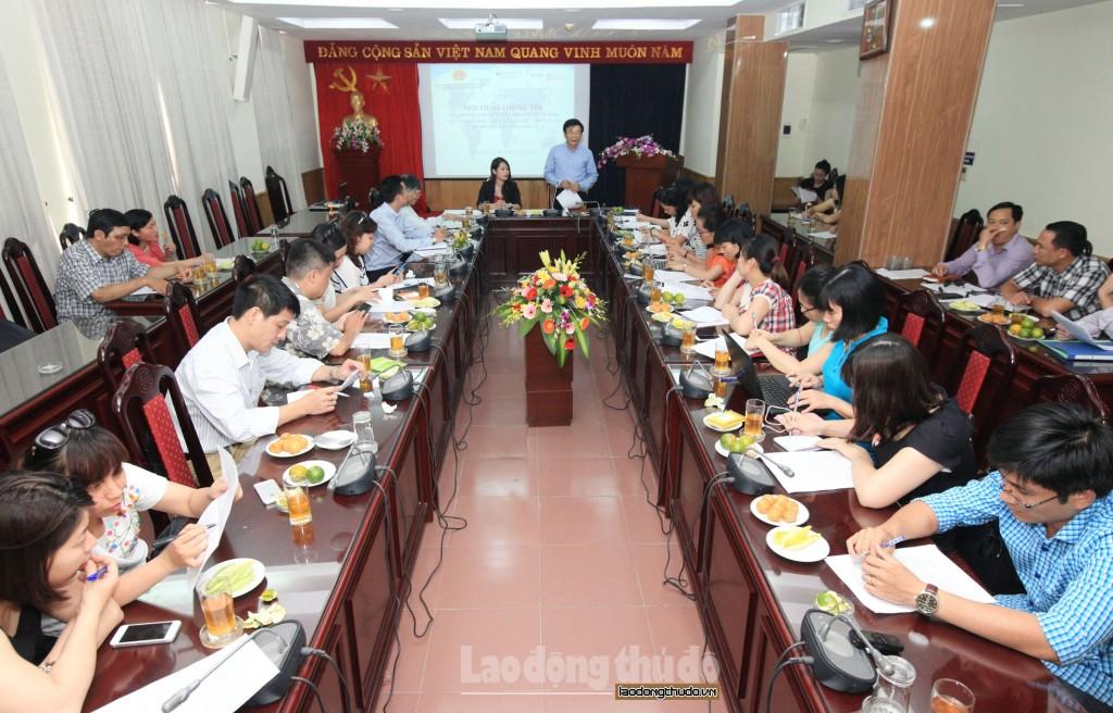 Cục trưởng Cục Quản lý lao động ngoài nước Nguyễn Ngọc Quỳnh thông tin về chương trình. Ảnh: laodongthudo.vn