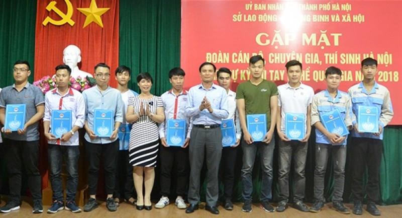 Đoàn Hà Nội đứng đầu về thí sinh thi tay nghề quốc gia năm 2018