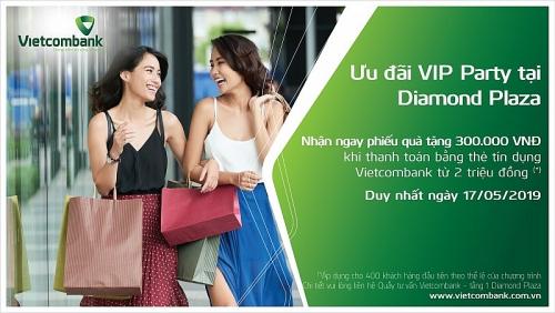 Ưu đãi VIP Party tại Diamond Plaza dành cho chủ thẻ tín dụng Vietcombank