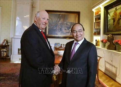 Thủ tướng Nguyễn Xuân Phúc hội kiến Nhà vua Na Uy Ha-ran đệ Ngũ