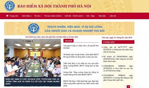 Từ 1/6: Bảo hiểm xã hội thành phố Hà Nội thay đổi tên miền truy cập