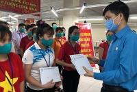 Lãnh đạo Tổng Liên đoàn thăm, tặng quà công nhân có hoàn cảnh khó khăn tỉnh Hưng Yên
