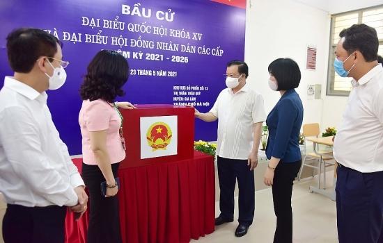 Bí thư Thành ủy Hà Nội Đinh Tiến Dũng: Kiên quyết xử lý nghiêm các trường hợp vi phạm quy định phòng, chống dịch