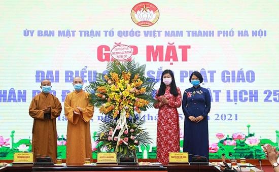 Mặt trận Tổ quốc Thành phố gặp mặt chức sắc Phật giáo nhân Đại lễ Phật đản Phật lịch 2565