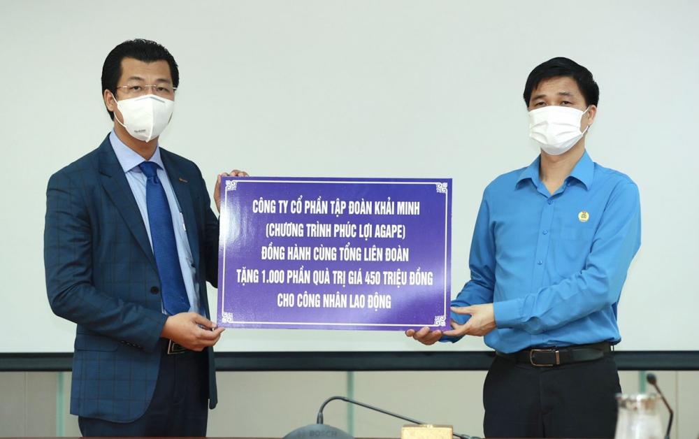 Tổng Liên đoàn tiếp nhận 1.000 suất quà trị giá 475 triệu đồng hỗ trợ người lao động gặp khó khăn bởi dịch bệnh