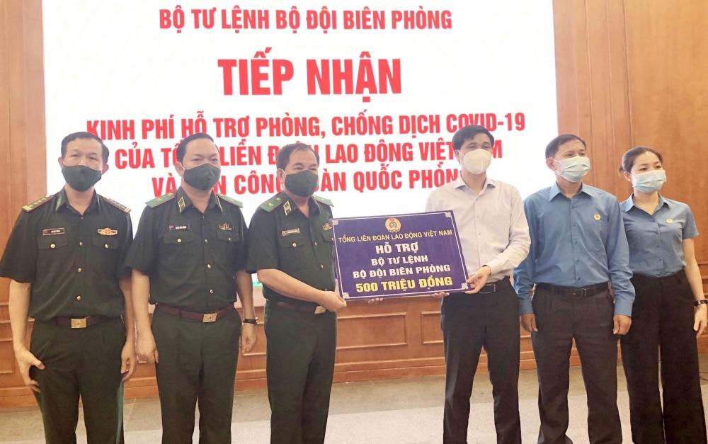 Tổng Liên đoàn Lao động Việt Nam tri ân bộ đội Biên phòng tuyến đầu phòng, chống dịch