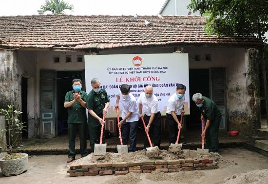 Khởi công xây dựng nhà Đại đoàn kết cho gia đình chính sách huyện Ứng Hòa