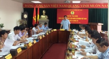 Đoàn Chủ tịch Tổng LĐLĐVN tổ chức Hội nghị lần thứ 24