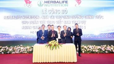 Herbalife tài trợ sản phẩm dinh dưỡng cho đoàn thể thao Việt Nam