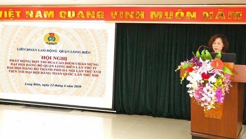 Phát động đợt thi đua cao điểm trong công nhân, viên chức, lao động quận Long Biên