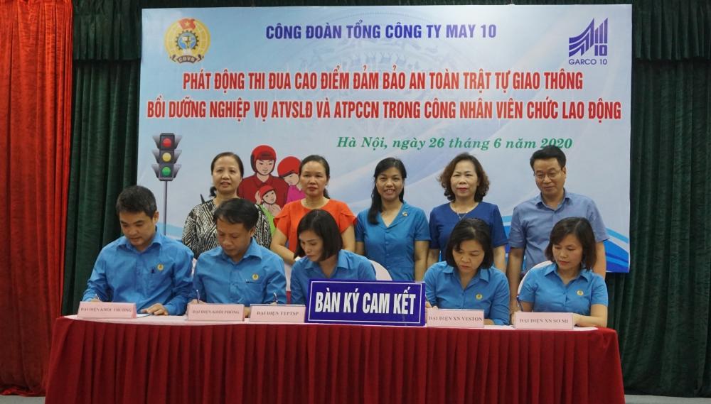 Tổng Công ty May 10 phát động thi đua bảo đảm an toàn giao thông