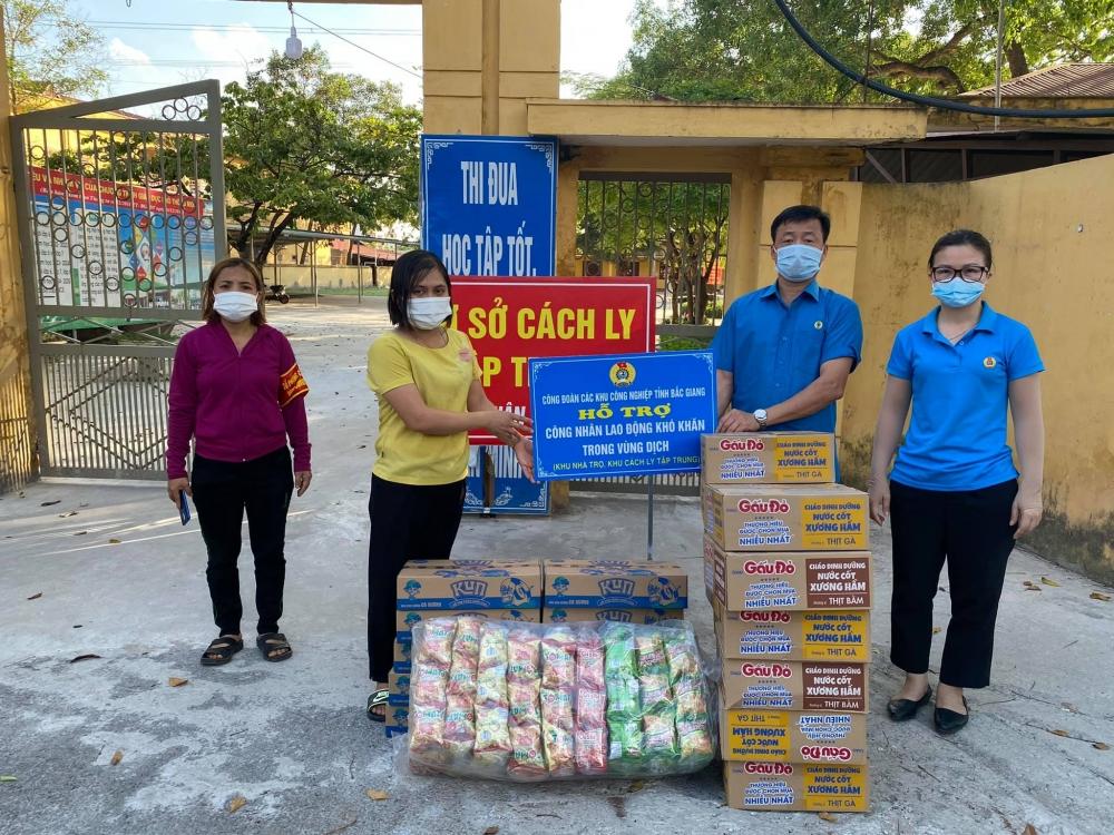 Cần lắm sự sẻ chia, giúp công nhân lao động tỉnh Bắc Giang vững tin chống dịch