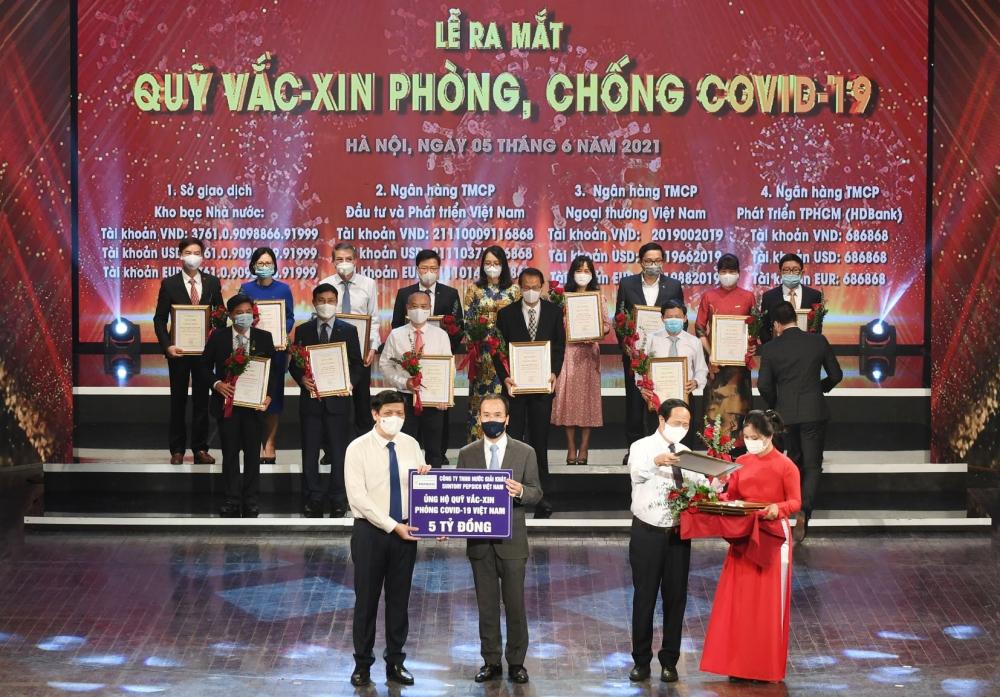 Suntory PepsiCo Việt Nam đóng góp 5 tỷ đồng vào Quỹ Vắc xin phòng, chống Covid-19